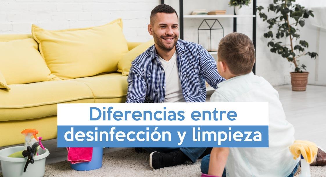 Diferencias entre desinfección y limpieza